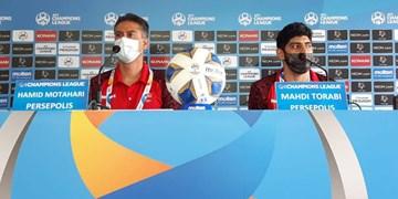 خوش و بش 2 پرسپولیسی با اسطوره فوتبال فرانسه+ عکس