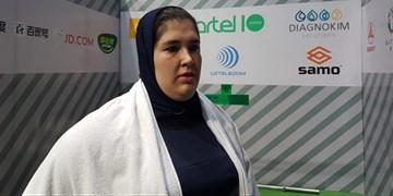 فیلم| مهار وزنه 121 کیلویی توسط فاطمه یوسفی