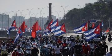 راهپیمایی خودرویی مردم کوبا علیه تحریمهای آمریکا