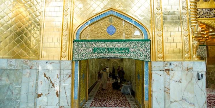 هنر ایرانیان در ایوان حرم حضرت عباس نصب شد+عکس