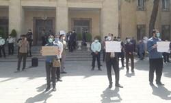 تجمع دانشجویان اصفهانی در اعتراض به ماجرای واکسن شهردار