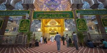 حرم امام حسین (ع) در آستانه میلاد کریم اهل بیت تزئین شد+عکس