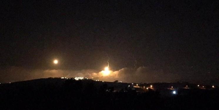 شلیک منور به آسمان نوار غزه توسط نظامیان صهیونیست