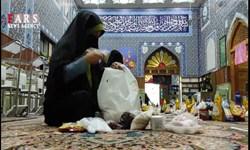 فیلم| توزیع ۵۵ بسته معیشتی به مناسبت میلاد کریم اهل بیت