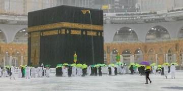 بارش تگرگ در مسجدالحرام+عکس و فیلم