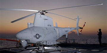 سقوط بالگرد بدون سرنشین نیروی دریایی آمریکا به قعر دریا