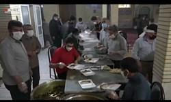 فیلم| توزیع ۱۰۰۰ پرس غذای نذری میلاد امام حسن(ع) در بیجار