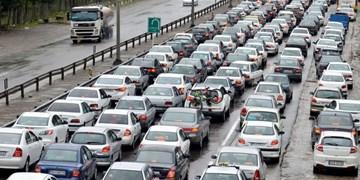 ترافیک سنگین بین کرج و قزوین/ باران در جادههای 11 استان