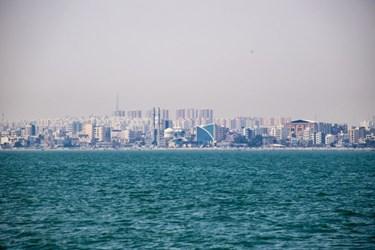 نمای   از   خلیج   فارس    رو   به   شهر    بندرعباس