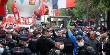 درگیری پلیس فرانسه با معترضان به طرح کرونایی دولت