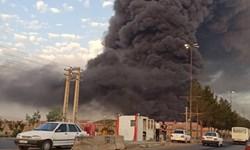 فیلم| آتشسوزی مهیب در شهرک صنعتی شکوهیه قم
