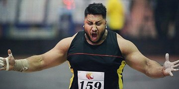 شاهین مهردلان، نایب قهرمان پرتاب وزنه شد