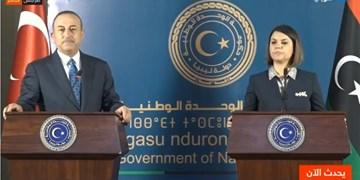 دیدار وزیران خارجه ترکیه و لیبی