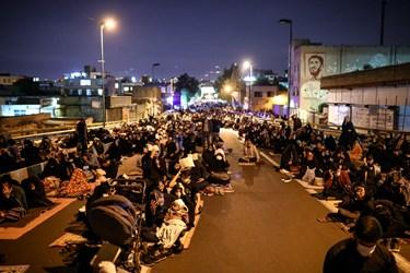احیای شب بیست و یکم ماه مبارک رمضان در خیابان ری تهران