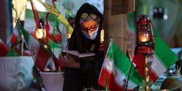 احیا شب بیست و یکم ماه رمضان در گلزار شهدای اهواز