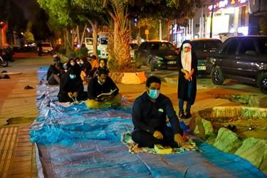 احیای شب بیست یکم  رمضان در  پیاده  رو