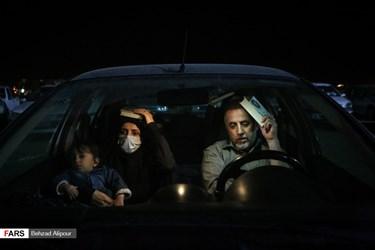 مراسم احیای شب بیستویکم ماه رمضان در تپه مصلی همدان / برگزاری مراسم به صورت خودرویی