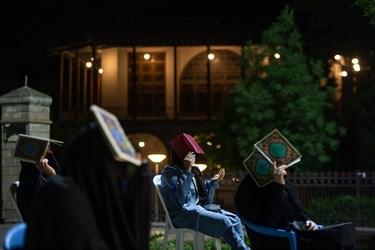 مراسم احیا در کنار محوطه تاریخی دولتخانه صفوی