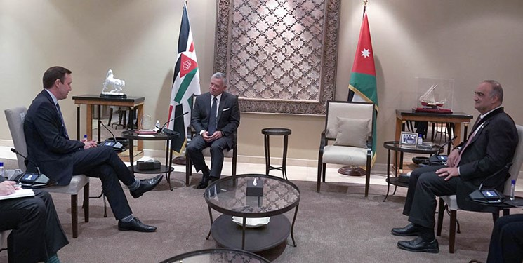 رایزنی هیأت ارشد آمریکایی با شاه اردن درباره احیای مذاکرات سازش