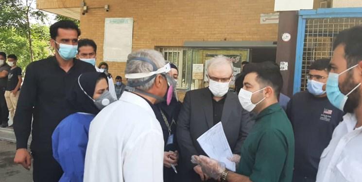بازدید سرزده وزیر بهداشت از بیمارستان شهدای پاکدشت+فیلم