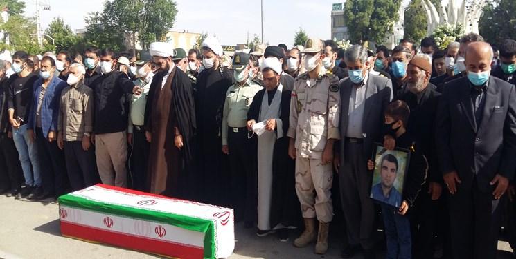 پیکر مطهر شهید مرزبان کردستانی در قروه تشییع شد