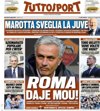 رم،مورينيو،بازگشت،ايتاليا،امپراطور،سرمربي،باشگاه،مطبوعات،كوريره
