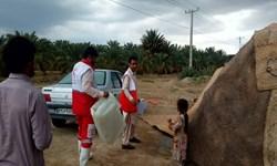 امدادرسانی هلال احمر به ۱۰۹ آسیب دیده سیلاب در جنوب سیستان و بلوچستان