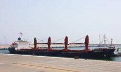 پهلوگیری کشتی حامل شکر خام در بندر شهید بهشتی چابهار
