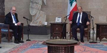 وزیر خارجه فرانسه با رئیسجمهور لبنان دیدار کرد