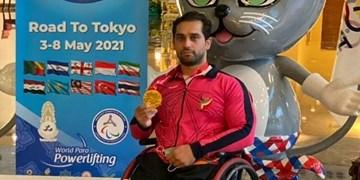 جام جهانی پاراوزنهبرداری| مدال طلا بر گردن امیر جعفری+عکس