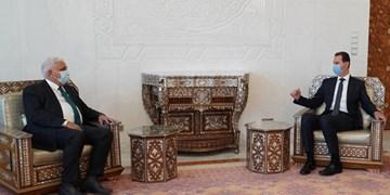 دیدار رئیس الحشد الشعبی با بشار اسد و گفتوگو درباره مبارزه با تروریسم