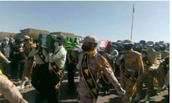 تشییع پیکر شهید مدافع وطن در زهک