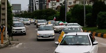 راهپیمایی خودرویی خودجوش مردمی در نوشهر