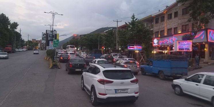 ترافیک سنگین در محور کندوان و مسیر آزادراهی بین کرج و قزوین