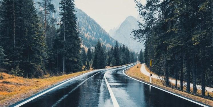 ترافیک سنگین در مسیر جنوب به شمال محور کندوان/ باران در ۳ جاده تهران-شمال