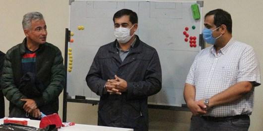 حضور مدیرکل ورزش و جوانان آذربایجان شرقی در رختکن ماشینسازی