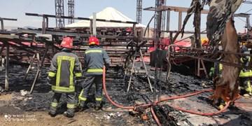 سیرک شیراز در محاصره شعلههای آتش