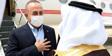 وزیر خارجه ترکیه وارد عربستان سعودی شد