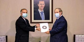 سفیر جدید ایران رونوشت استوارنامه خود را تقدیم وزیر خارجه سوریه کرد