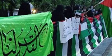 تجمع دانشجویان ایرانی و خارجی دانشگاههای تهران در محکومیت جنایات رژیم صهیونیستی در غزه