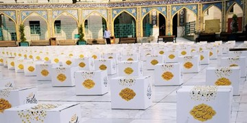 توزیع ۱۱۰۰ بسته ارزاق و غذای گرم در طرح «ایران همدل» توسط امامزاده صالح