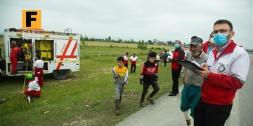 مانور امداد و نجات جادهای هلال احمر گلستان در ساعت صفر