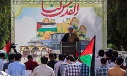 فیلم| تجمع دانشجویان انقلابی خوزستان در حمایت از مردم فلسطین