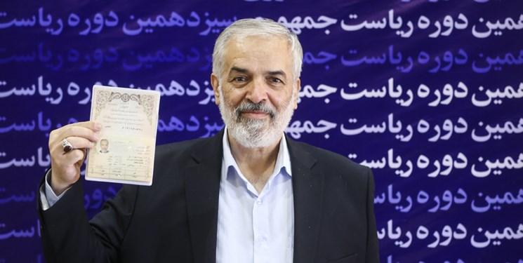 نام نویسی قدیری ابیانه در انتخابات ریاست جمهوری