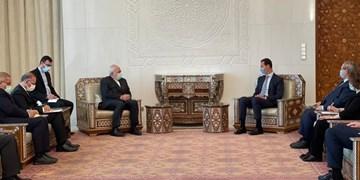 ظریف در دیدار با بشار اسد حمایت ایران از انتخابات سوریه را اعلام کرد