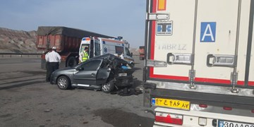 حادثه مرگبار  رانندگی در  آزاد راه پیامبر اعظم