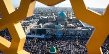 گزارش تصویری|  اقامه باشکوه نماز عید سعید فطر در حرم مطهر رضوی