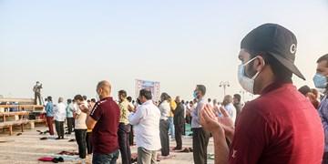 نماز عید سعید فطر در ساحل بوشهر