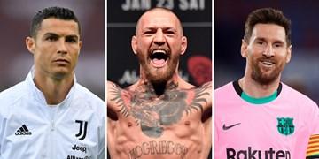 معرفی ۱۰ ورزشکار ثروتمند جهان در یکسال گذشته