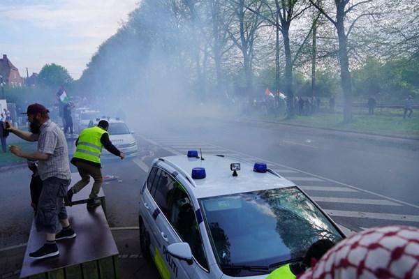 14000225000457 Test PhotoL - حمله پلیس دانمارک به تظاهرات حمایت از فلسطین+فیلم